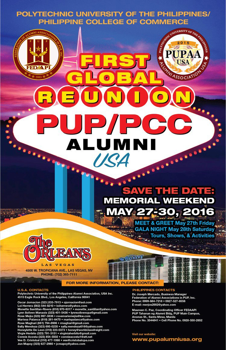 First PUP PCC Alumni Global Reunion 2016