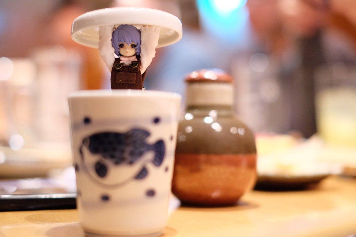 年末の写真。神姫と戯れながら飲むヒレ酒は悪くない #武装神姫 https://t.co/GumeVhJUbi