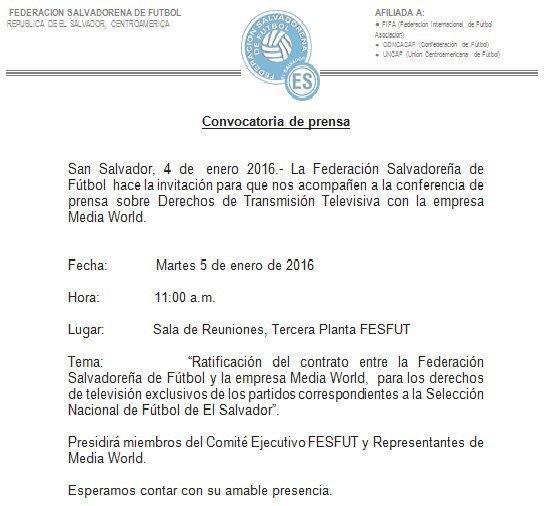 FESFUT y contrato con Media World por derechos de television. CX7QzTHUAAIoxYv