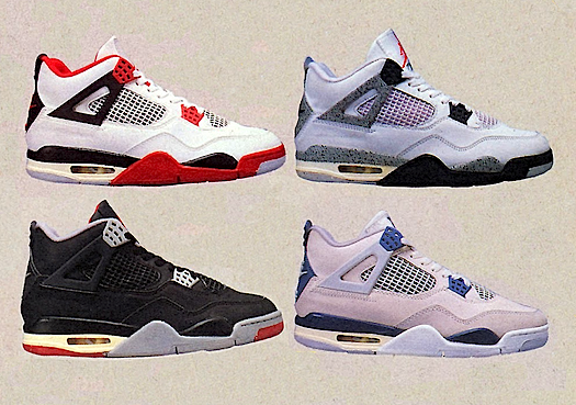 original air jordan 4 colorways