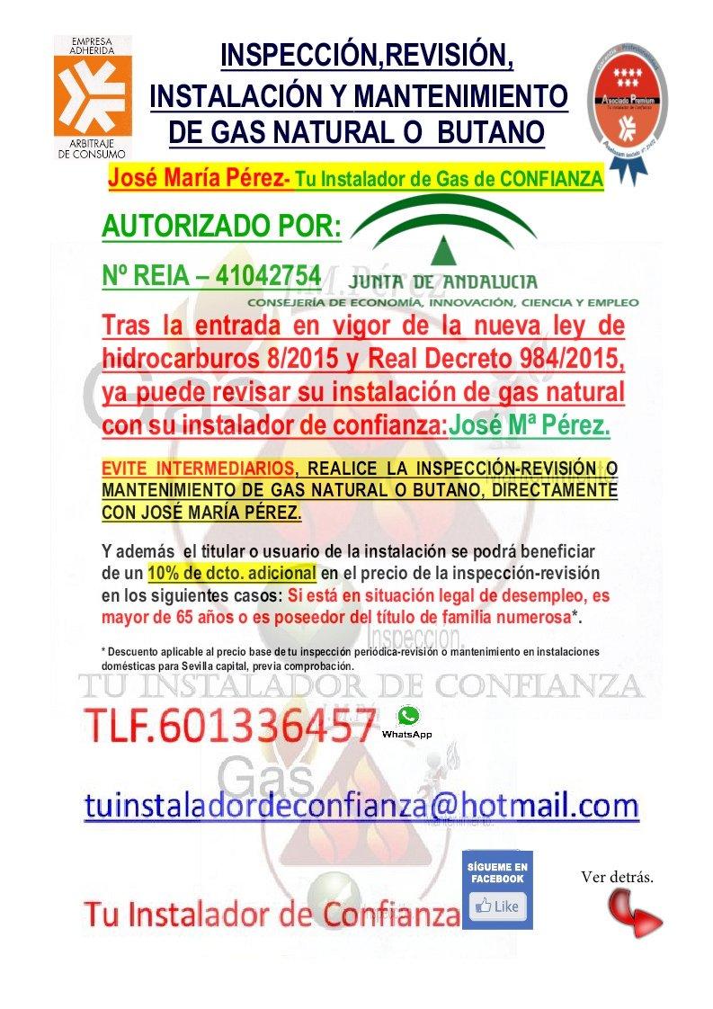 Revision gas butano precio great gallery of limpieza for Empresas autorizadas revision gas natural