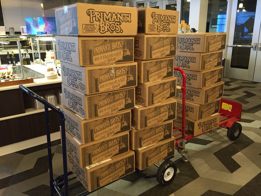 Special delivery from the heart of @steelers country. Thanks @primantibros! We can't wait to dig in.