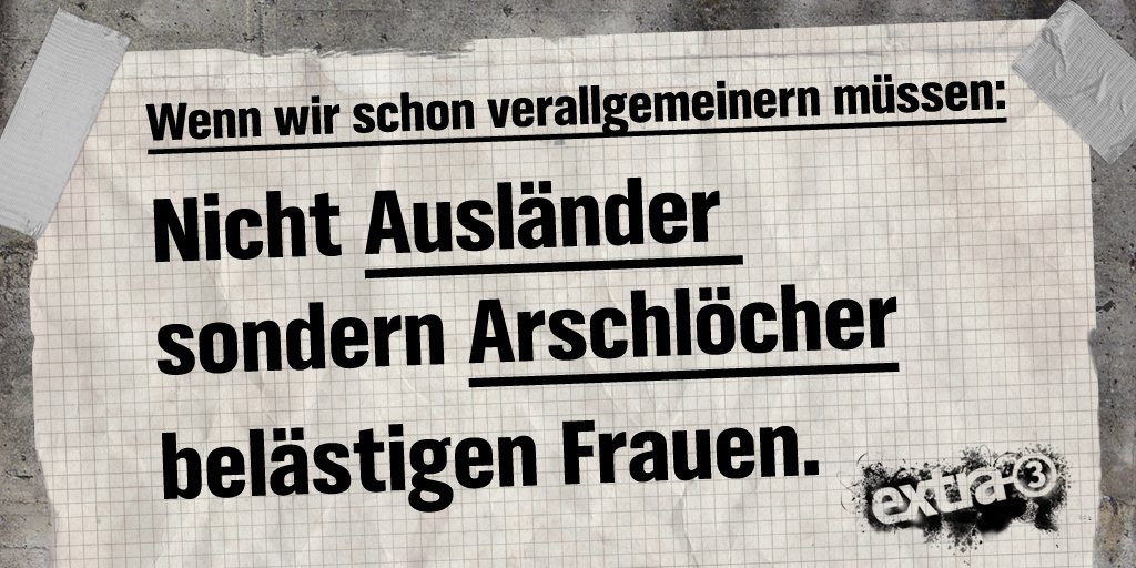 #Köln, #Hamburg, überall @beckerjan