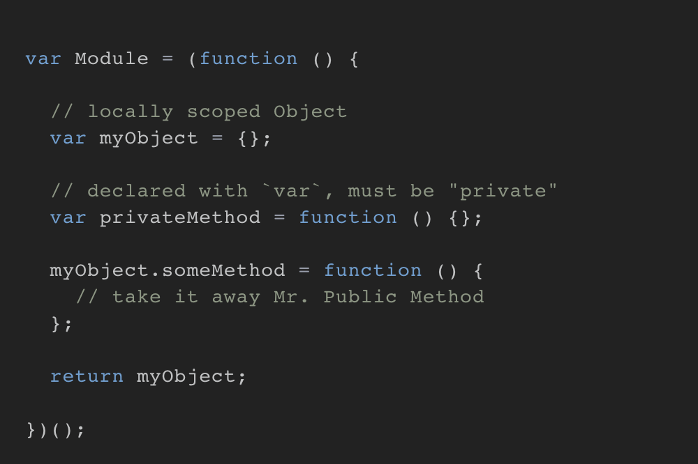 Mastering the JavaScript module pattern: https://t.co/2DUQp9KErQ https://t.co/nywqOd563v