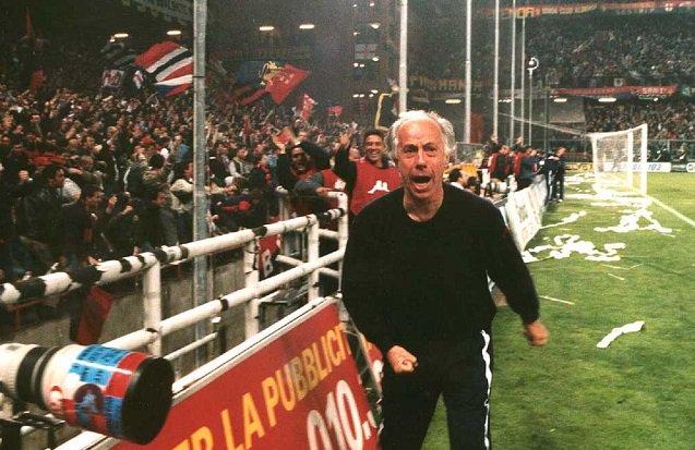 Franco Scoglio, allenatore del Genoa che si faceva chiamare Professore