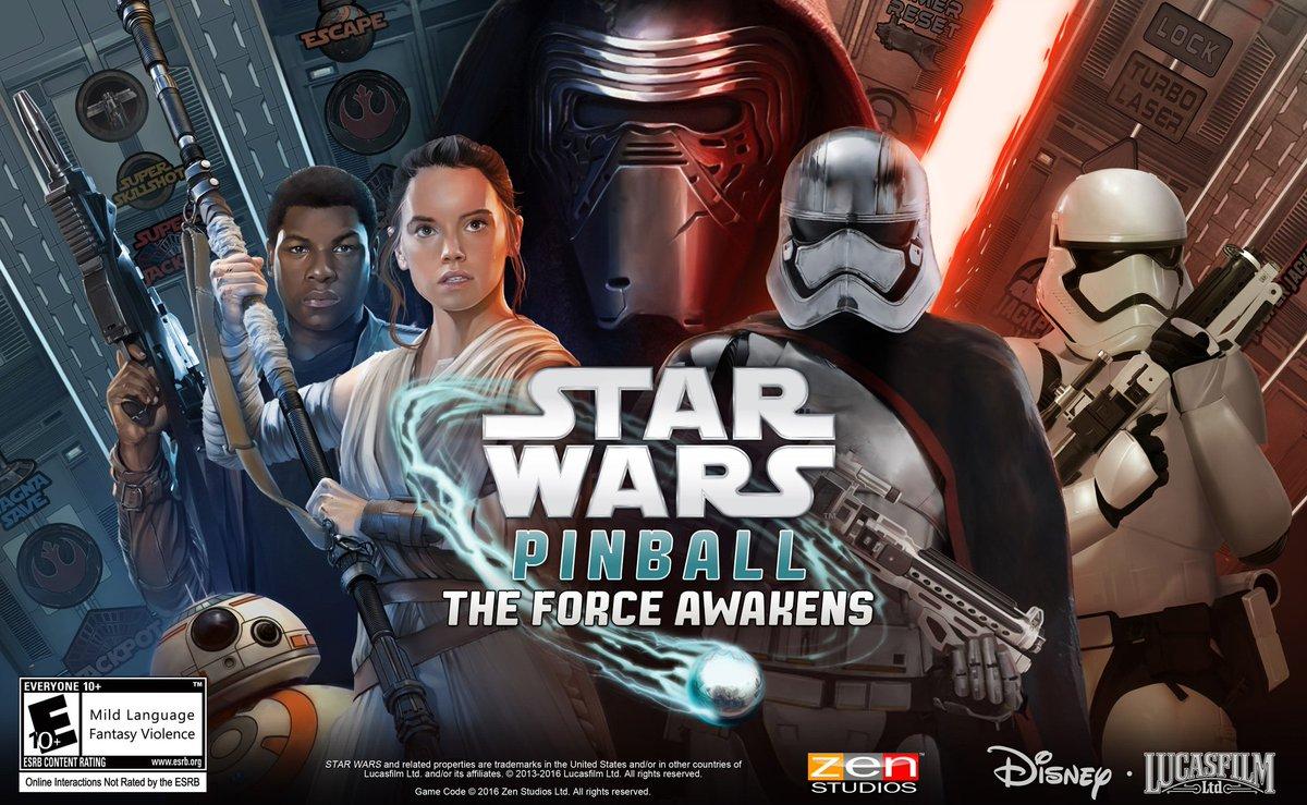 Use the Force in @StarWars Pinball: #TheForceAwakens 2-table pack, releasing next week!  https://t.co/rp16btfOrb https://t.co/KwOla4c7mr