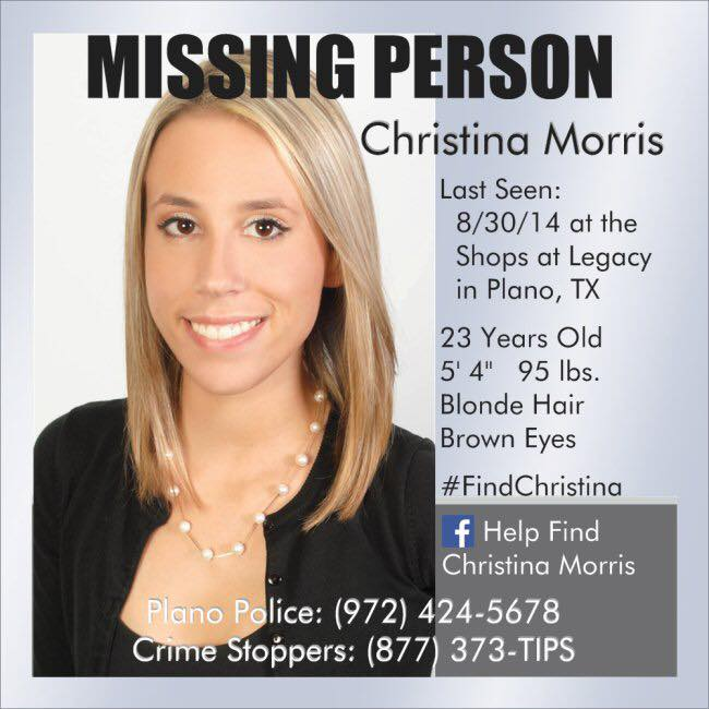 Nearly 16 months later, Christina Morris is still missing. #FindChristina https://t.co/mBA6SNj6pK https://t.co/nDs16U8W9m