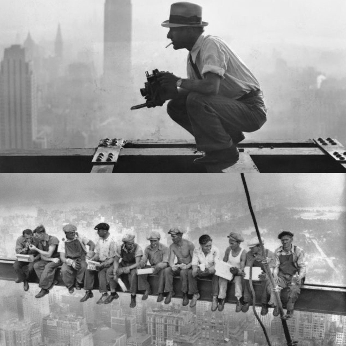 That time right before Charles Ebbets took that iconic photo. #TBT #photography #photo #nyc https://t.co/XE46fPet28