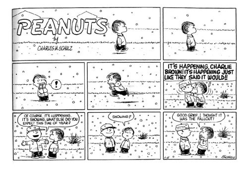 Charles Schulz wishes you the spirits of the season. https://t.co/IosO7xuBOp
