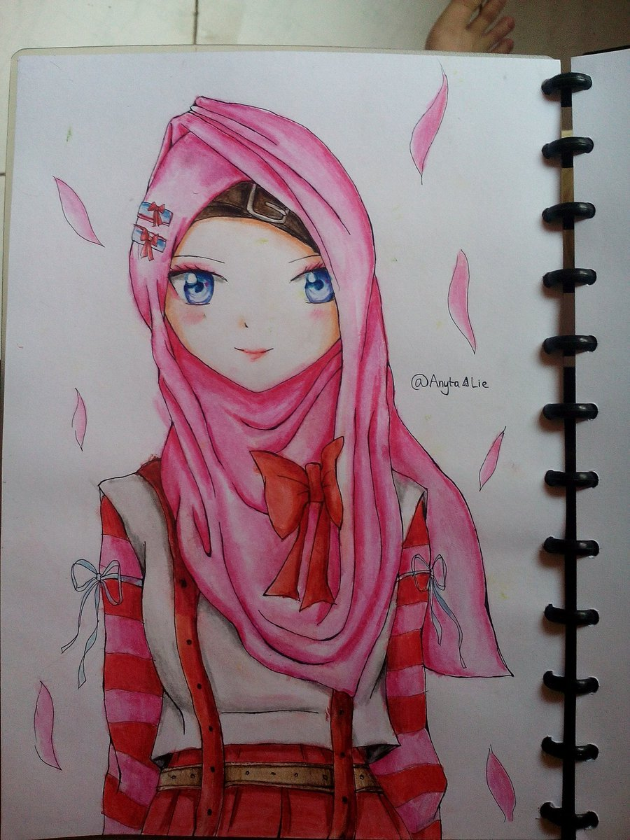 Anyta on twitter reom versi hijab komikindonesia komik majuteruskomikindonesia draw manga girl sketch pencil pen https t co 4letgr4qi5