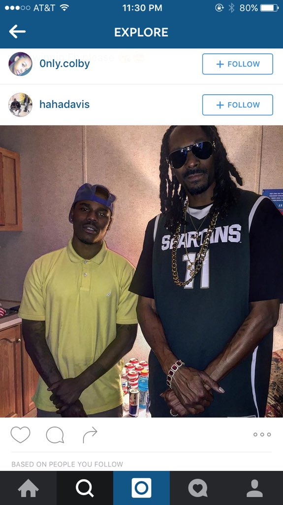 Uncle Snoop repping them SPARTANDAWGS https://t.co/kvwJGdsZvr