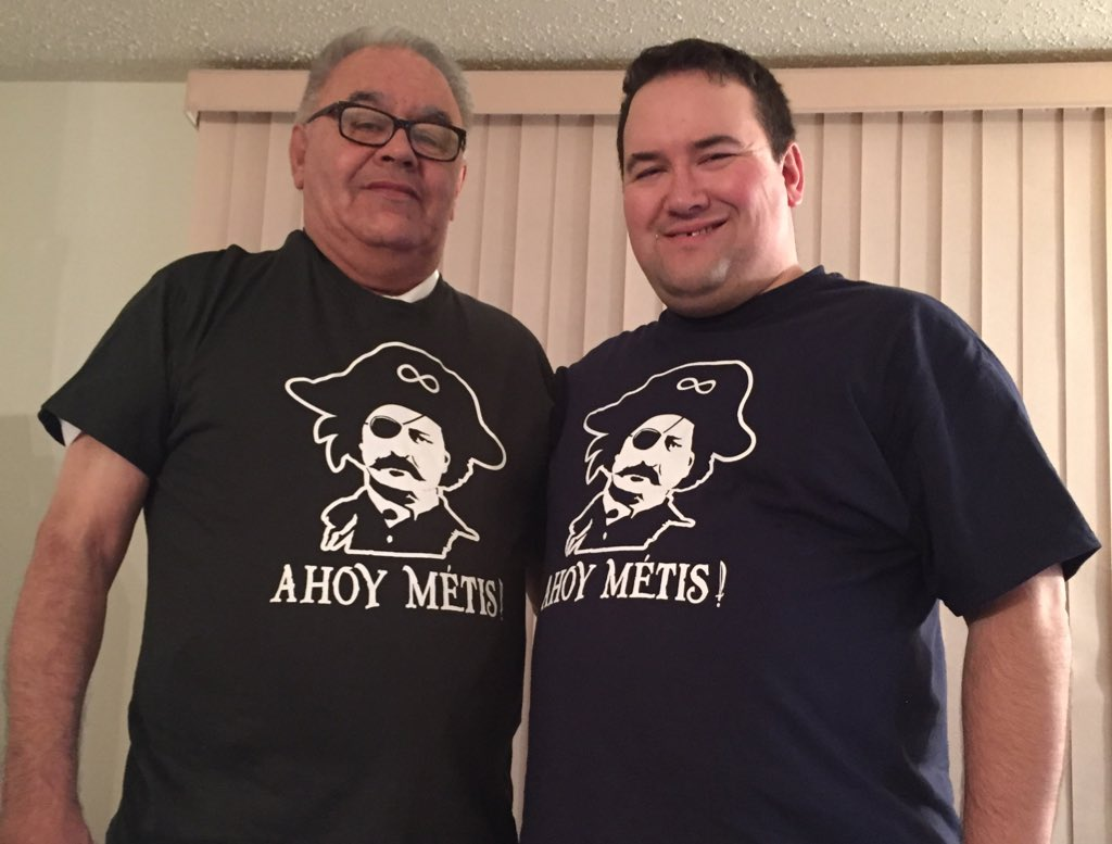 Dad loved his new shirt (and I got one as well)! Huge thanks to @dvcomedy! #Metis https://t.co/7fkSIcnFWE