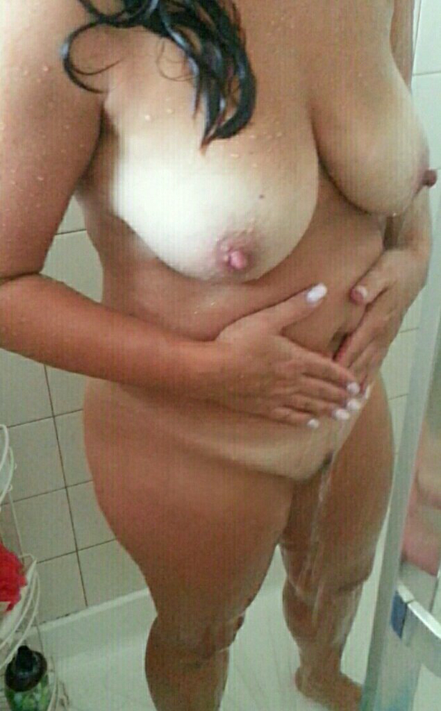 Horny milf in the shower