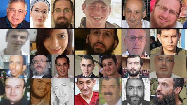 The 24 Israelis murdered over the last 100 days of Palestinian terror: may their memories be blessings.(@ynetnews)