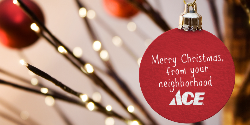 ace hardware on twitter merry christmas wishing you and your family love joy and peace during this festive season httpstcomcs6lilhqn