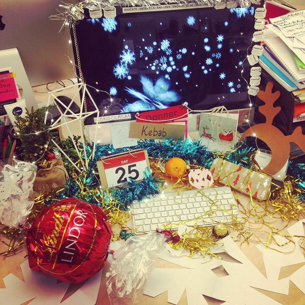 sabrina faramarzi on twitter and this masterpiece is called xmas vomit most festive desk winner not that im compe httpstcoo7bogxanqv - Why Is Christmas Called Xmas