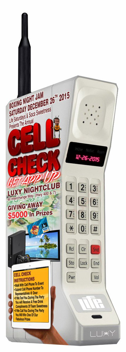 GIVING AWAY #XBOX #NINTENDOWII #PLAYSTATION CELL CHECK #BoxingNight DEC 26th @LUXYNIGHTCLUB #SocaSweetness #App https://t.co/dr12E3uvul