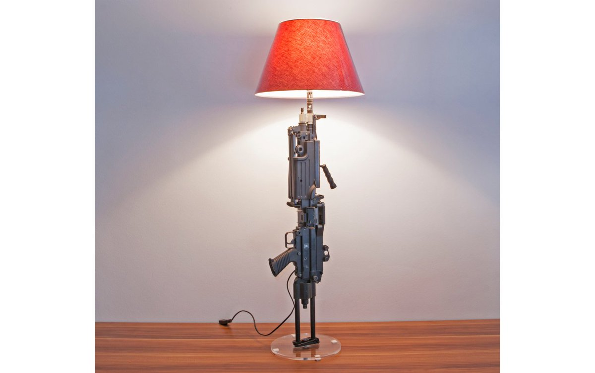 Lamp M249 Light Machine Gun VETERAN Version Lamp   Gun Lamp   Floor/Desk  Lamp ...