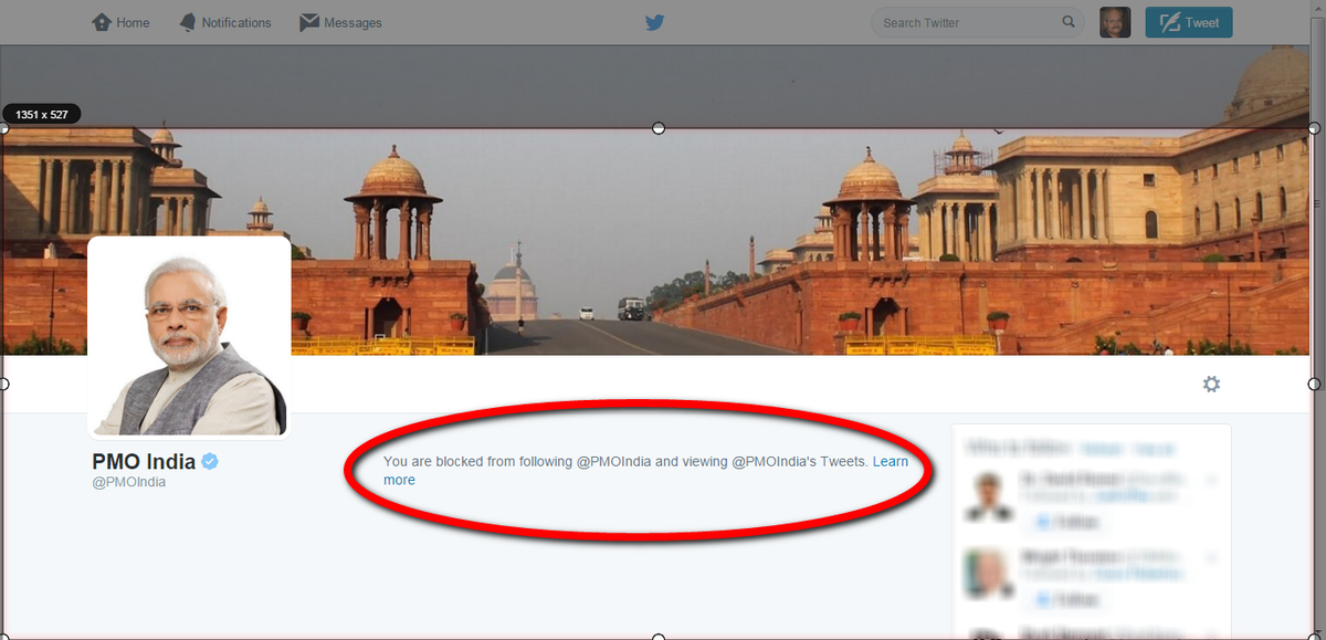 Blocked by @PMOIndia for reporting corruption in the Supreme Court Of India.#MahaKlutzy MJ Akbar https://t.co/l1VqIaHXxH