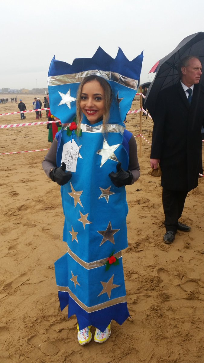 That Jade from @LittleMix is a right cracker! Tee hee. She's taking part in the dip for Cancer Connections. https://t.co/rlO9v847YF