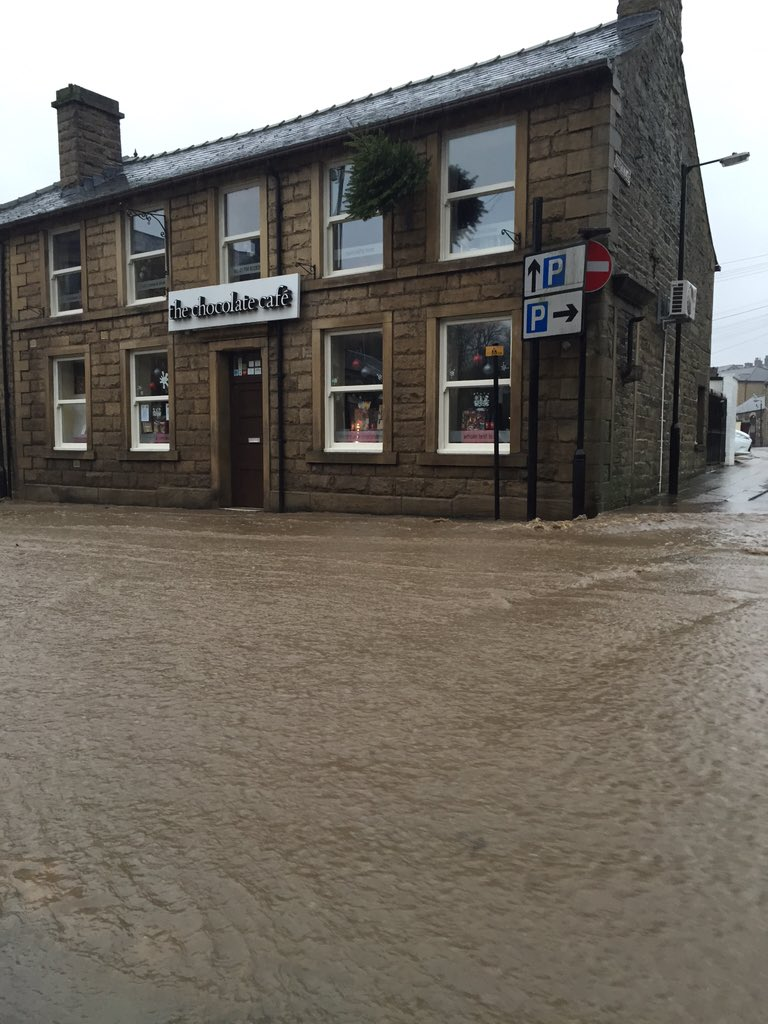 The Chocolate Cafe On Twitter Flooding In Ramsbottom Stay