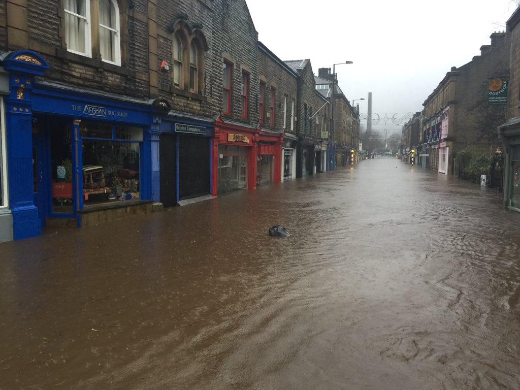 Water Floods Centre Of Hebden Bridge Calendar Itv News