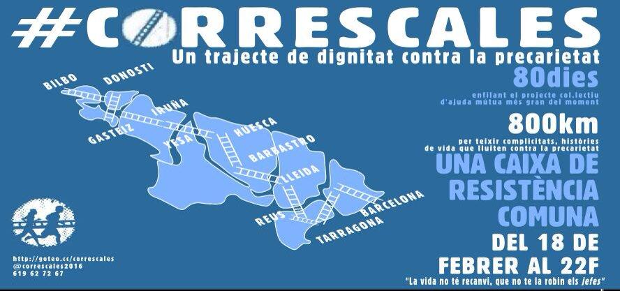 S'apropa el #correscales: un trajecte de dignitat contra la precarietat