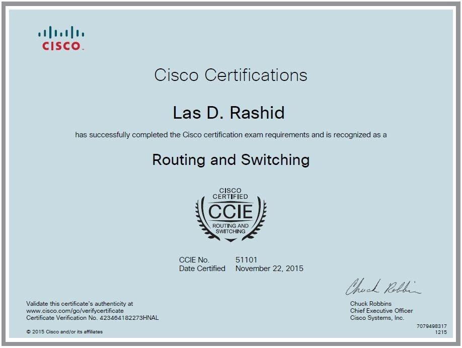 Las D Rashid On Twitter Ccie Rs Cisco Ccie Cciers Certificate