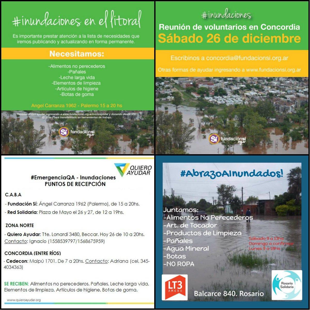 #InundacionesLitoral Reciben donaciones: alimentos, leche, pañales, agua, artículos de limpieza. https://t.co/jL4nhMvIix