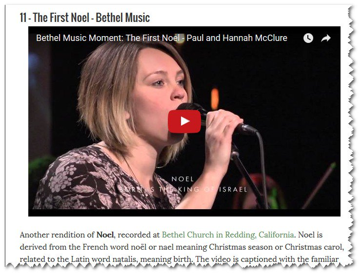doug vos on twitter the 12 best christmas music videos of 2015 see httpstcoenlwp1yj80 and bethelredding is on the list - Best Christmas Music Videos