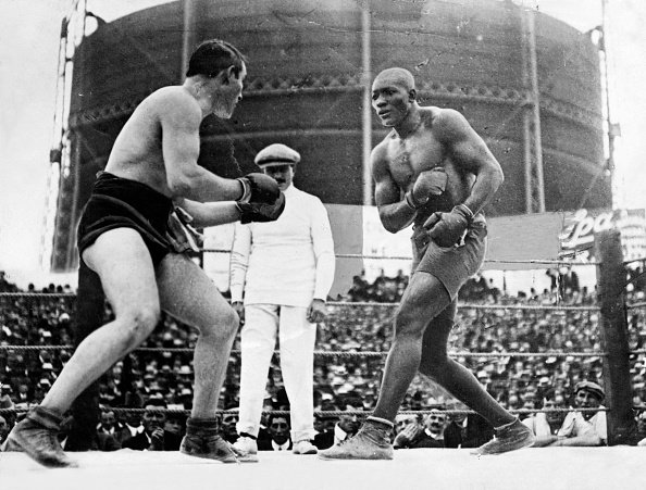 On this day in 1908, Jack Johnson KO'd Tommy Burns to become 1st African-American to win the heavyweight title.