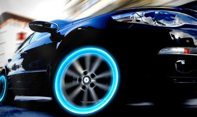 светящиеся картинки на колеса автомобиля того, ледяной