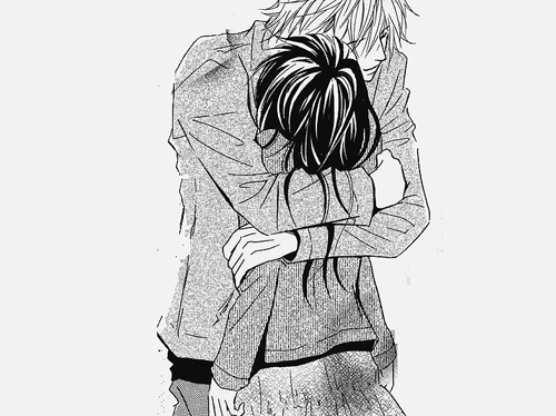Boy hugging girl from behind cute sketches division of - Anime boy hugging girl ...