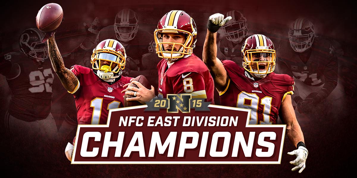 #EastOnLock  #Redskins clinch 15th NFC East title in franchise history!  MORE | https://t.co/JlG5rKbiTA  #HTTR