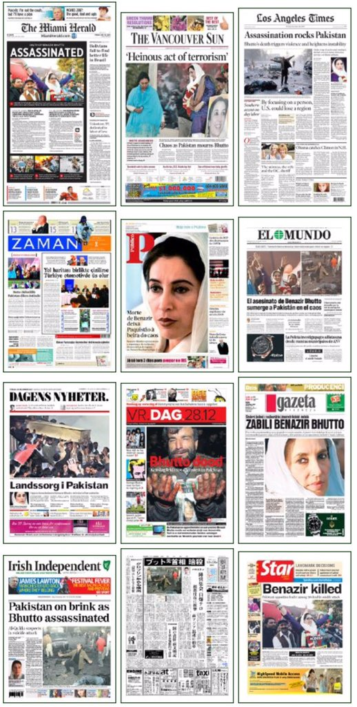 What 78 intl newspapers looked like on #BenazirBhutto death Visit Wall of #GlobalShock here: https://t.co/xLP8mKrcio https://t.co/t1l8WvNist