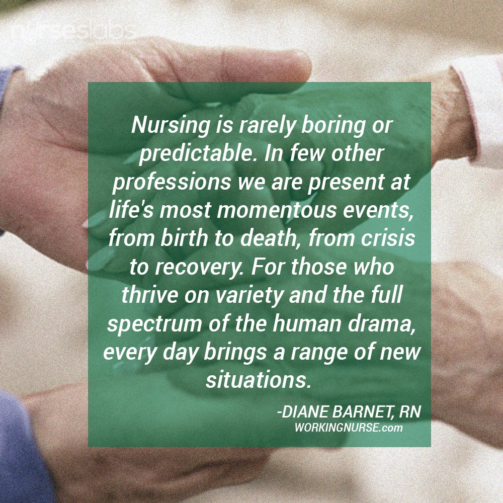 """Nursing Quotes Nurse Quotes On Twitter """"""""nursing Is Rarely Boring Or Predictable"""