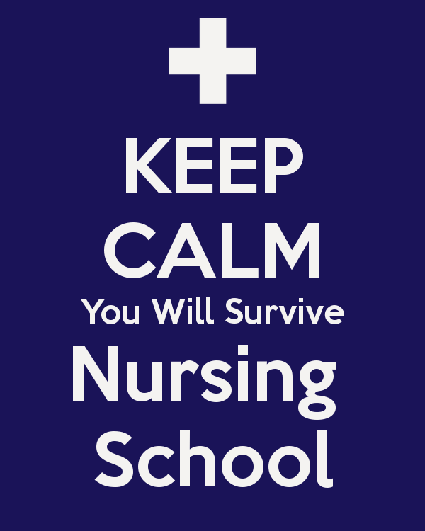 Nurse Quotes On Twitter Keep Calm You Will Survive Nursing School