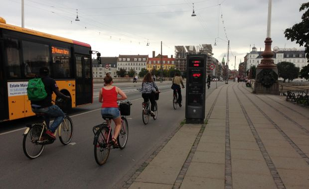 Three bike counters