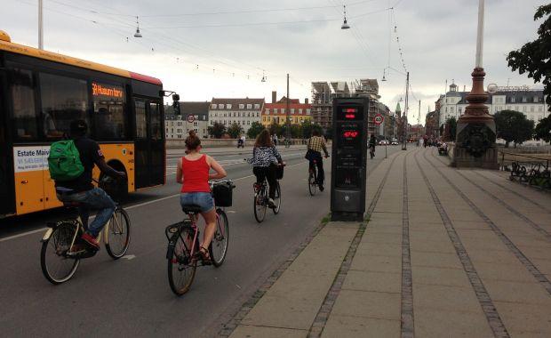 Three bike counters