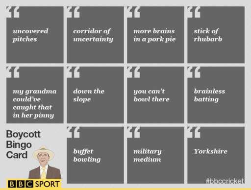 Time to dust off the @bbctms 'Boycott Bingo' card! https://t.co/Y6fiwRS2so