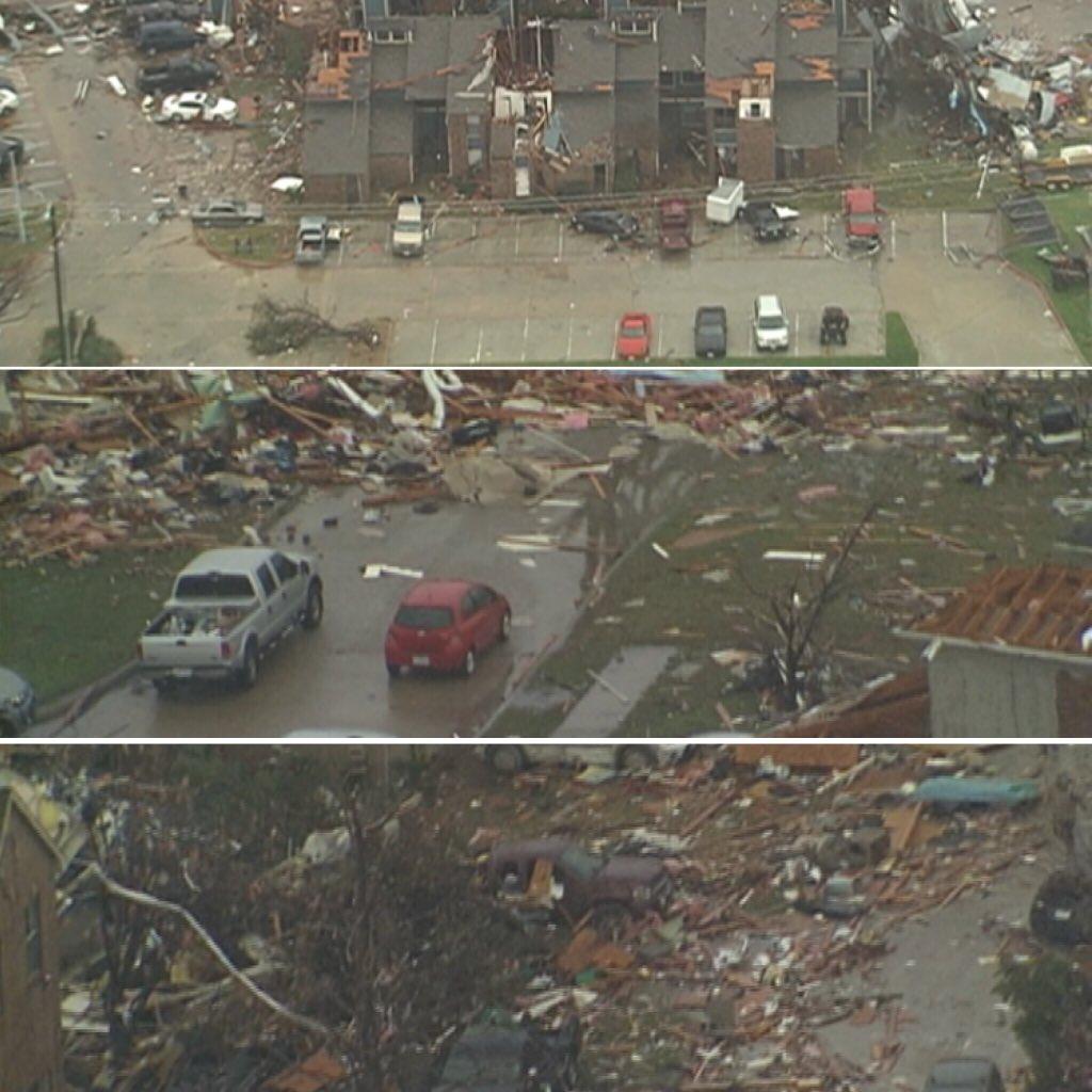 1st aerial images in Rowlett & Garland. #prayfortexas #tornado https://t.co/zufi53KxxF