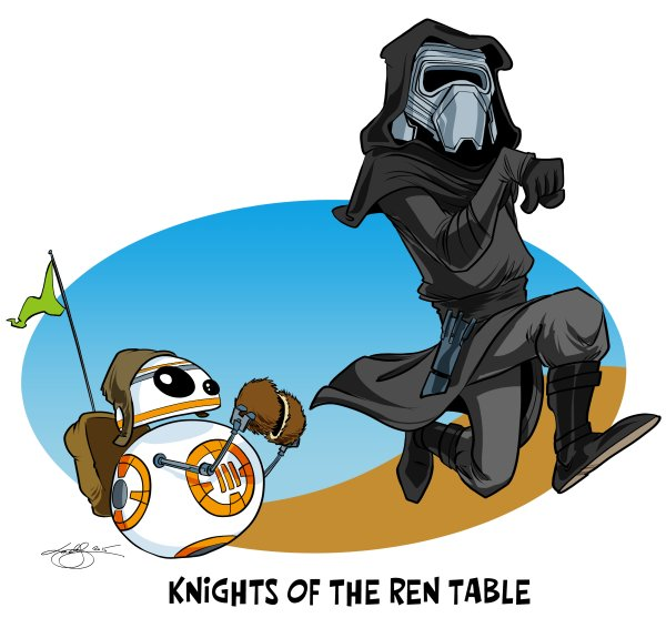 Cartoon: Knights of the Ren Table. I admit I'm feeling rather proud of this one :) https://t.co/9nkZPEyVr4