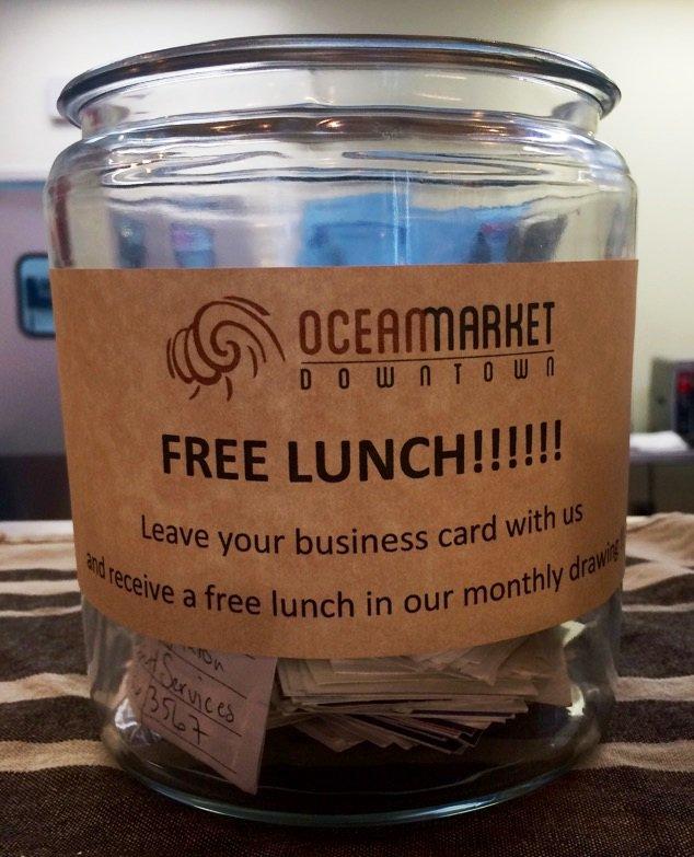 ocean market on twitter tis the season to win a free lunch drop