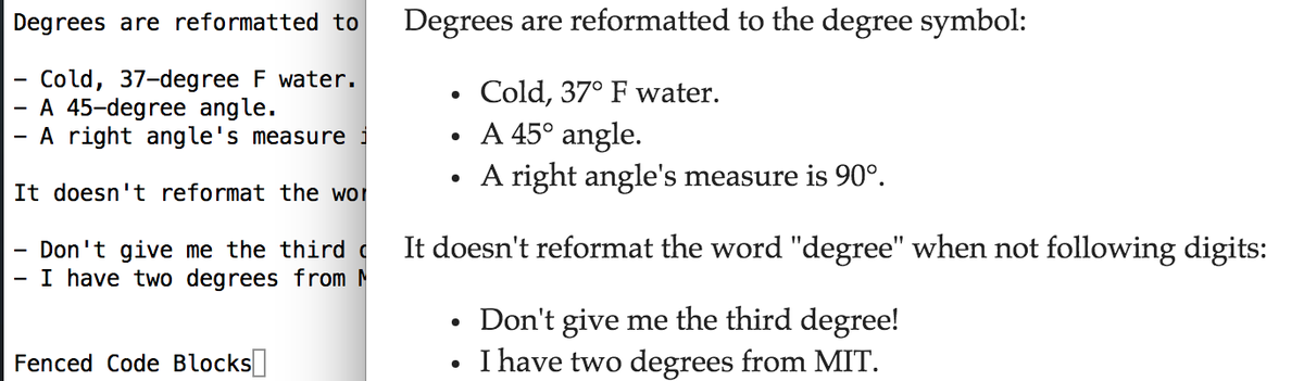 Morgan On Twitter Added Degrees Newlines In Bolditalics