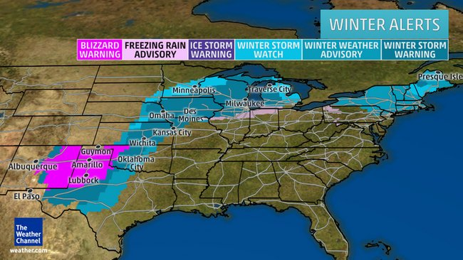 Winter storm warnings extend into MI as #snow, #ice from #Goliath spreads Monday. https://t.co/yDuRmdB1ak #Goliath