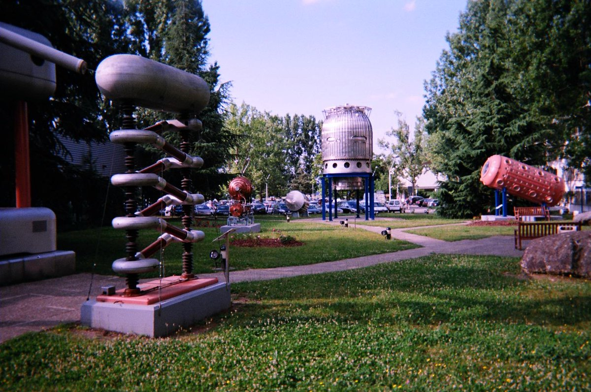 CERN's colorful garden of retired particle detectors https://t.co/3Omt7iOMhp