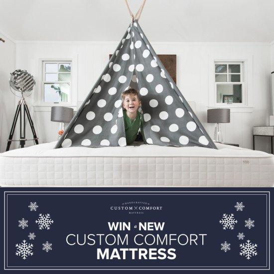Enter NOW to #WIN a @CustomComfortCA mattress! #CustomComfort #ad - https://t.co/8wPQ1pRT2u via @DesireeEaglin https://t.co/3WYdWdgfQf
