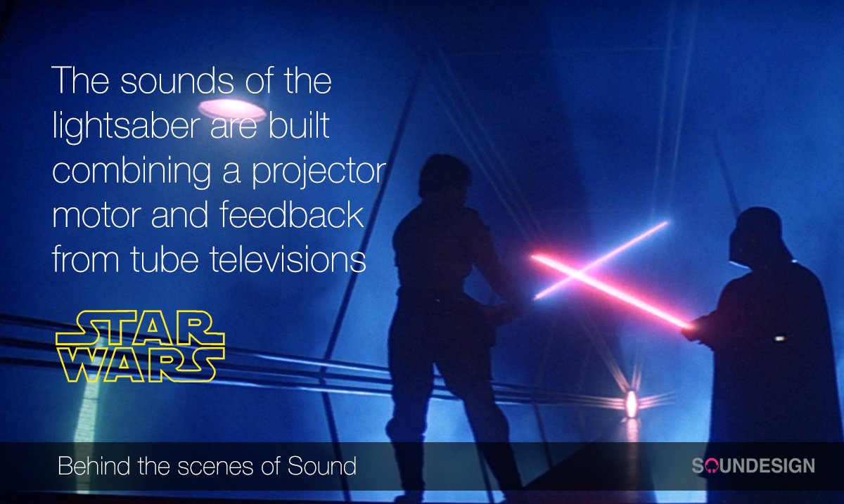 #BehindTheScenesOfSound: how the sounds of the amazing lightsaber were made #StarWars #ForceAwakens https://t.co/bUhfZz7YH5