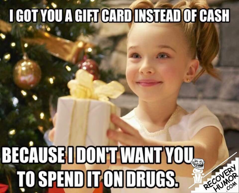 Image result for got you a gift card instead of cash meme
