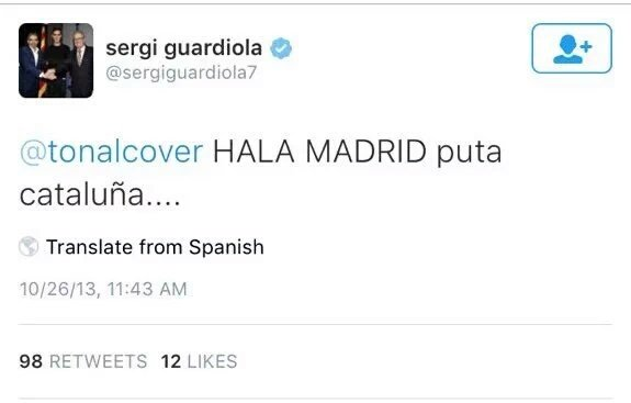"""Игрок """"Барселоны Б"""" уволен за оскорбление Каталонии"""